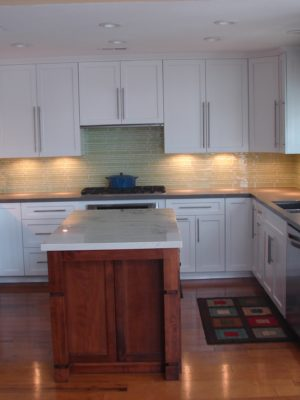Kitchen cabinet reface with new doors and drawer fronts
